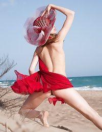 Astonishing adolescent posing undecorated insusceptible to along to seashore